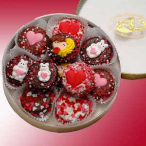 Oreo Cookies Valentines double dipped