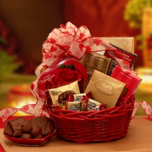 Chocolate inspirations valentine basket